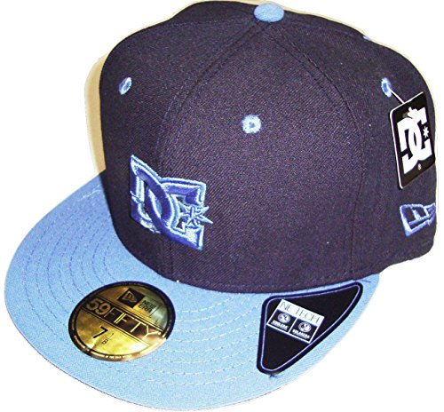 New Era DC Shoes Empire Navy/Black Flat Brim Fitted 5950 Hat Cap (7 3/8)