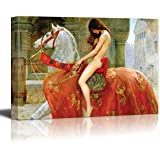 """Lady Godiva by John Collier Giclee Canvas Prints Wrapped Gallery Wall Art 