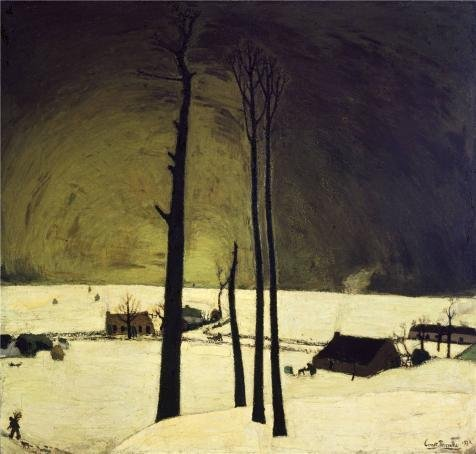 [High Quality Polyster Canvas ,the Replica Art DecorativeCanvas Prints Of Oil Painting 'Winter Landscape By Constant Permeke,1912', 20x21 Inch / 51x53 Cm Is Best For Gym Gallery Art And Home Gallery Art And Gifts] (Best Film Noir Costumes)
