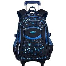 Rolling Backpack, Coofit Wheeled Backpack School Kids Rolling Backpack With Wheels (Coofit Original Design Blue)