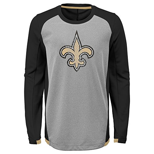 NFL New Orleans Saints Kids & Youth Boys Mainframe Performance Tee Black, Youth X-Large(18)