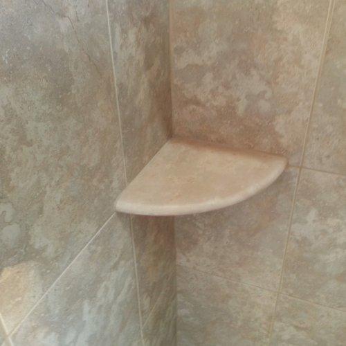 Crema Marfil Marble Both Side Polished Bathroom Corner Shelf 9u0027u0027x9u0027u0027 By  Tile Spot     Amazon.com