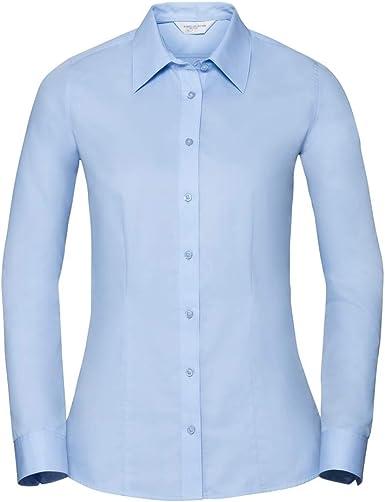 Russell Collection - Camisa Fresca de Sastre de Manga Larga ...