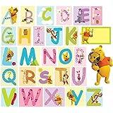 Winnie the Pooh Wall Stickers - Alphabet