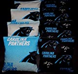 BackYardGamesUSA Carolina Panthers Cornhole Corn Hole Bags 8 ACA Regulation Cornhole Bean Bags