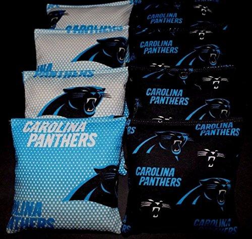 (CAROLINA PANTHERS Cornhole Corn Hole Bags 8 ACA Regulation Cornhole Bean Bags)