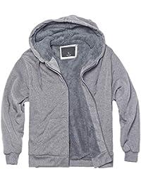 Heavyweight Sherpa Fleece Hoodies for Men Full Zip Up Sweatshirt Long Sleeve Lined Active Jackets