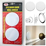 2Pc Door Knob Wall Shield Round White Self Adhesive Protector Prevents Holes New nXGMaY, 5Pack