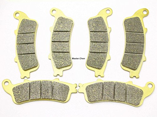Master Chen Front Rear Brake Pads Brakes for Honda GL 1800 / A ABS Goldwing VFR 800 A Fi ST 1300 CBR 1100 VTX 1800 FA261FR