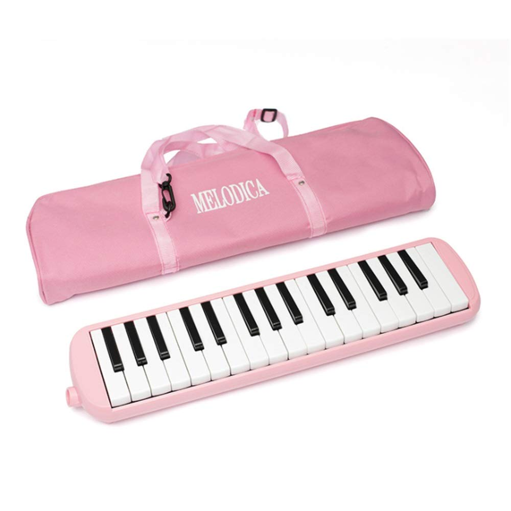 Melodica Musical Instrument 32 Keys Portable Pianica Melodica Kids Musical Instrument Gift Toys For Music Lovers Beginners With Mouthpieces Tube Sets Carrying Bag Black Pink Blue for Music Lovers Begi by Shirleyle-MU (Image #1)