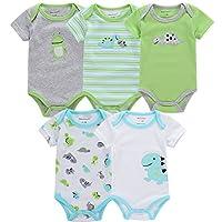 Baby Onesies ShortSleeve Carton 100% Organic Cotton Essentials Gfit Newborn M...