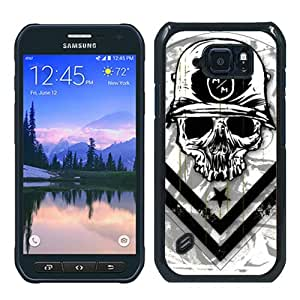 Hot Sale Samsung Galaxy S6 Active Case ,Unique And Durable Designed Case With metal mulisha 1 black Samsung Galaxy S6 Active Cover Phone Case