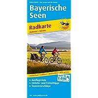 Bayerische Seen: Radkarte mit Ausflugszielen, Einkehr- & Freizeittipps, wetterfest, reissfest, abwischbar, GPS-genau. 1:100000 (Radkarte/RK)