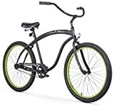 Cheap Firmstrong Bruiser Man Single Speed Beach Cruiser Bicycle, 26-Inch, Matte Black w/ Green Rims