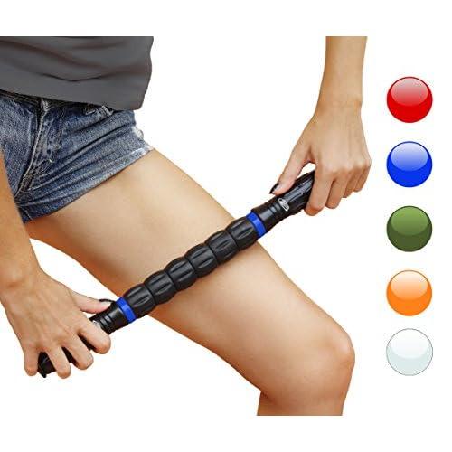 Muscle Rouleau bâton de massage pour les coureurs et les athlètes, Instant détente Myofasciale, Soulagement de la douleur, Trigger points, jambe, douloureuses, crampes, prévention des blessures