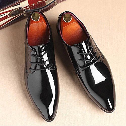Del La De Boda Banquete De Vendimia Dedo Negocios De De Acentuado Cuero De Del De Black Charol Hombres Zapatos Brogue Del Caballero Derby Pelo Los Estilista Pie Zapatos Ocasionales De nIqZpcW