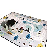 Cusphorn Kids Carpet Playmat Rug Village Life Great For Playing With Cars and Toys Learn and Have Fun Educational Road Traffic Play Mat For Bedroom Play Room Game Mat
