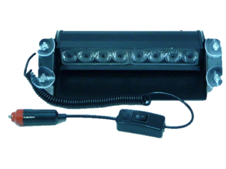 LEDHOLYT 24W 240LED 30cm/12インチ 警告灯 緊急灯 回転灯 ストロボ 作業灯 フラッシュライト 車用 パトランプ DC12V (青+赤)