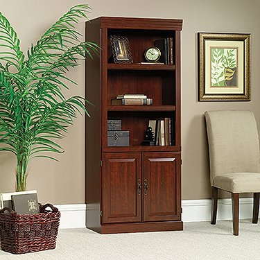 Sauder Heritage Hill 2-Door Bookcase, Classic Cherry