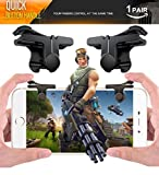 pubg mobile controller,mobile game controller fortnite mobile claw with sensitive shoot aim button for iPhone IOS Android(upgrade version)