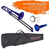pInstruments pBone Plastic Trombone - Blue