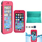 Iphone 6 Plus Waterproof Case,Moment Dextrad *NEW* [Kickstand Feature] [Touch ID] Waterproof Dirt Proof Snow Proof Heavy Duty Full Body Armor Case Cover Only for iPhone 6 Plus (5.5) **Three Months Warranty** (Hot pink)