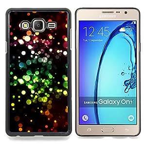 """Qstar Arte & diseño plástico duro Fundas Cover Cubre Hard Case Cover para Samsung Galaxy On7 O7 (Brillo Bling Bling puntos Sparkle Wallpaper"""")"""