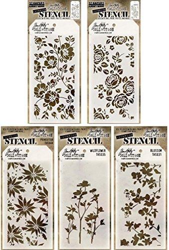 (Tim Holtz - Stencils Set 10 (