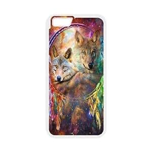 "GGMMXO Wolf Dream Catcher Shell Phone Case For iPhone 6 Plus (5.5"") [Pattern-2]"