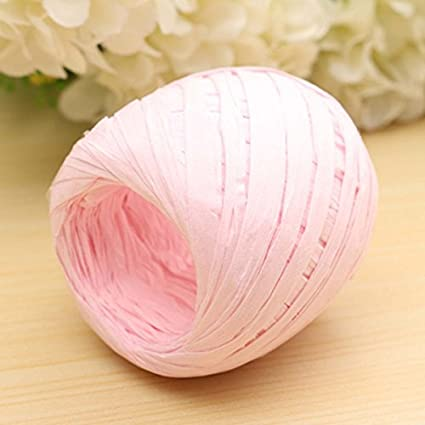 Amazon Com Ac2shop 20m Color Raffia Paper Ribbon Decorating Flower