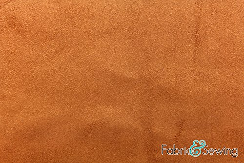 Fabric Non Stretch - Brown Non-Stretch Suede Fabric Polyester 6 Oz 58-60