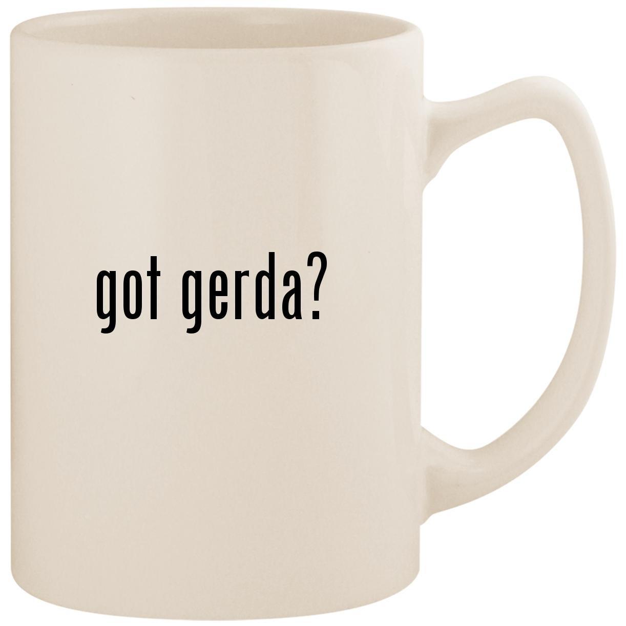 got gerda? - White 14oz Ceramic Statesman Coffee Mug Cup by Molandra Products