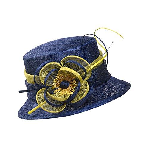 summer hat/British vintage fashion linen Cap/Visor cap /Sun protection hats-blue adjustable by jmhmhmh