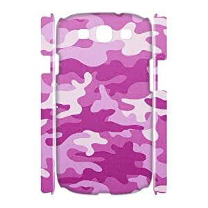 3D Samsung Galaxy S3 Cases Pink Camouflage Pattern For Women, Case For Samsung Galaxy S3 Mini For Women [White]