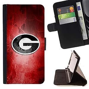 - G Sports Team Monogram/ Personalizada del estilo del dise???¡¯???¡Ào de la PU Caso de encargo del cuero del tir???¡¯????n del s - Cao - For HTC One M8
