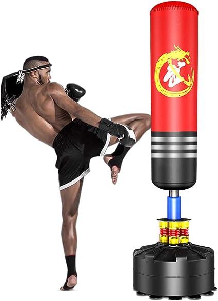 Entrenamiento de Fitness Black Entrenamiento de Alivio de Presi/ón Para Adultos Saco de Boxeo Independiente Saco de Arena de Boxeo Inflable