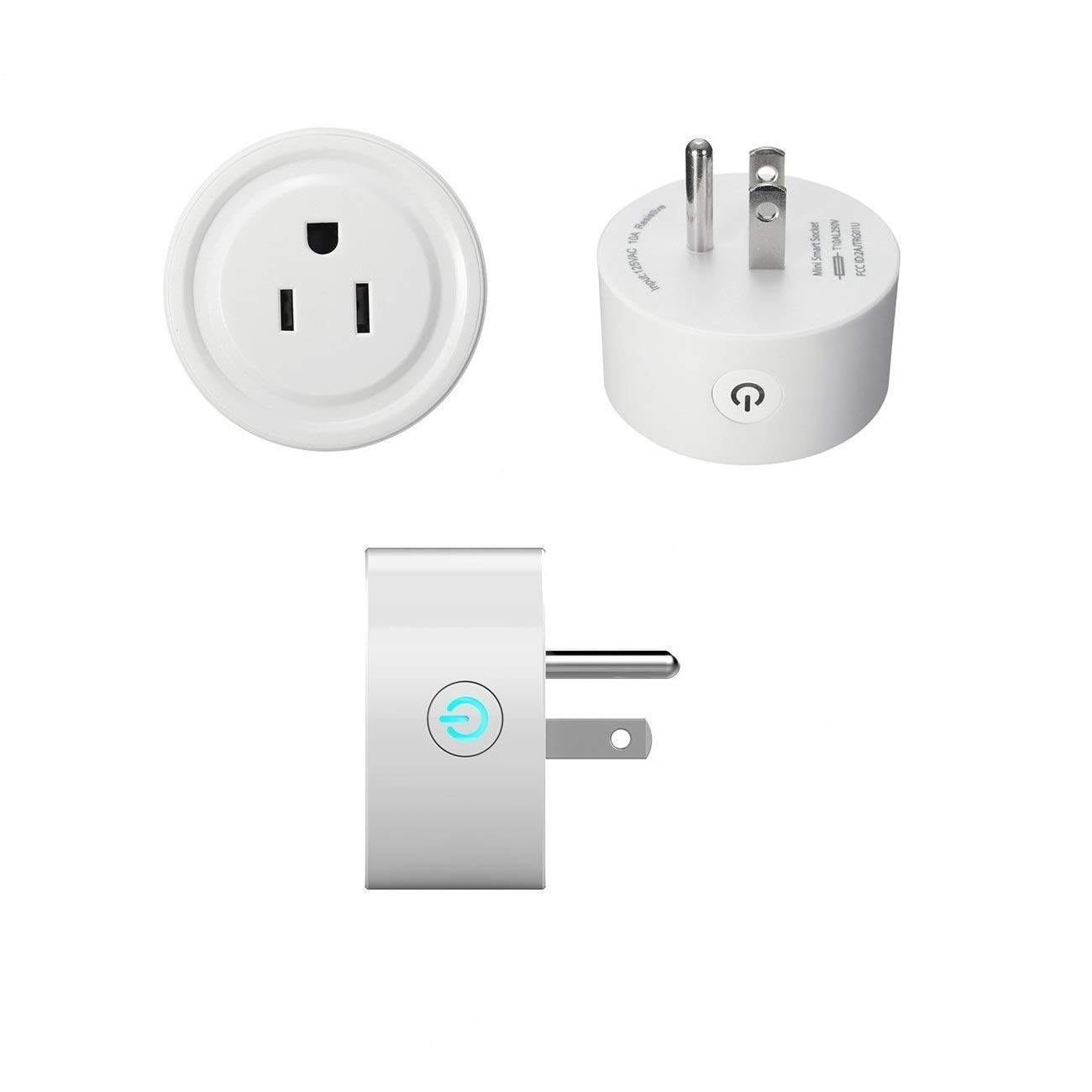 Mini Smart Socket Wifi Plug US Work with Alexa Echo Dot Voice Control No Hub Required Timing Function (2 Pack) by EVO-SMART (Image #9)