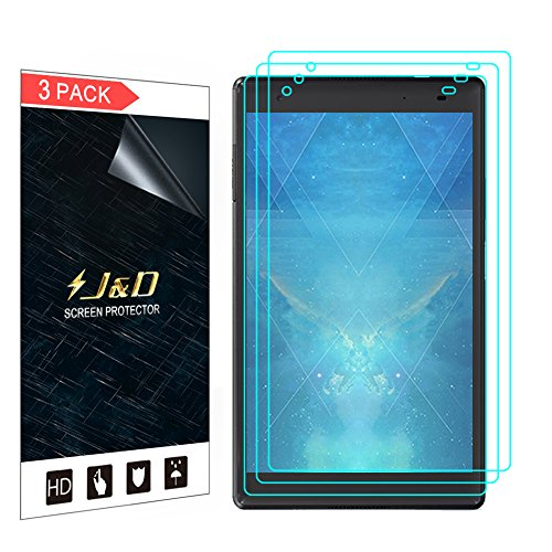 J&D Compatible for 3-Pack Lenovo Tab 4 8 Plus Screen Protector, [Not Full Coverage] Premium HD Clear Film Shield Screen Protector for Lenovo Tab 4 8 Plus Crystal Clear Screen Protector