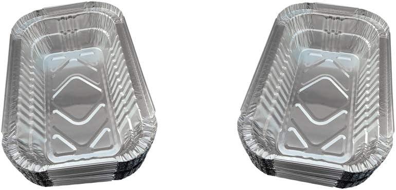 Fenteer Juego De 40 Bandejas De Goteo De Aluminio para Parrillas De Barbacoa Weber Grills Cooking 700ml
