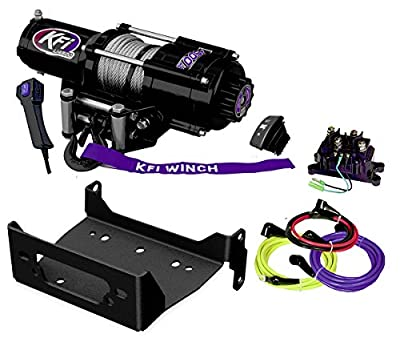 KFI Combo Kit - U45-R2 4500lbs Winch & Mount Bracket - 2014-2018 Yamaha Viking & Viking VI 4x4