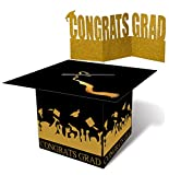 jollylife Grad Cap Card Box Centerpiece Holder- Graduation Party Supplies 2018 - Congrats Decorations
