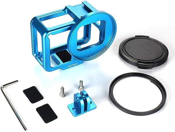 Lente UV de 52mm para GoPro Hero 7 Cámara De Acción CARCASA de aluminio Shell Jaula marco