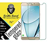 Gorilla guard™ Pro quality screen guard for Samsung Galaxy A9 Pro with HD+ ultra clear edge to edge 9H hardness, UV protect & anti-smudge technology TEMPERED glass phone protector