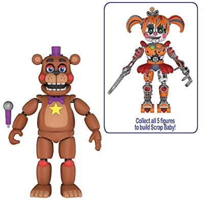 Five Nights at Freddy's: Pizza Simulator Rockstar Freddy 5-Inch Action Figure: Toys & Games