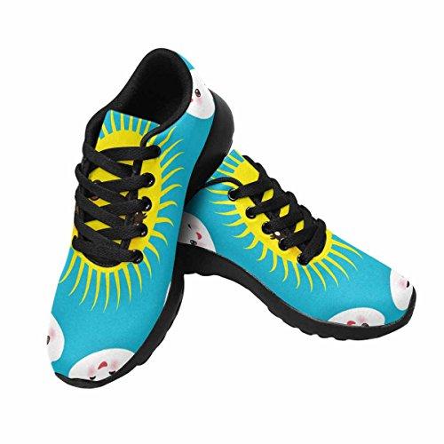 Chaussures De Course Trailprint Jogging Footing Athlétisme Footing Chaussures De Sport Kawaii Jaune Soleil Drôle, Ensemble De Nuages blancs, Museau Avec Des Joues Roses Et Des Yeux Clignotants Multi 1