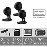 Samsung SNH-V6414BMR SmartCam HD Full HD 1080p Wi-Fi Camera Bundle Triple Pack (Certified Refurbished)