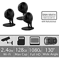Samsung SNH-V6414BMR SmartCam HD Full HD 1080p Wi-Fi Camera Bundle Triple Pack (Manufacturer Refurbished)