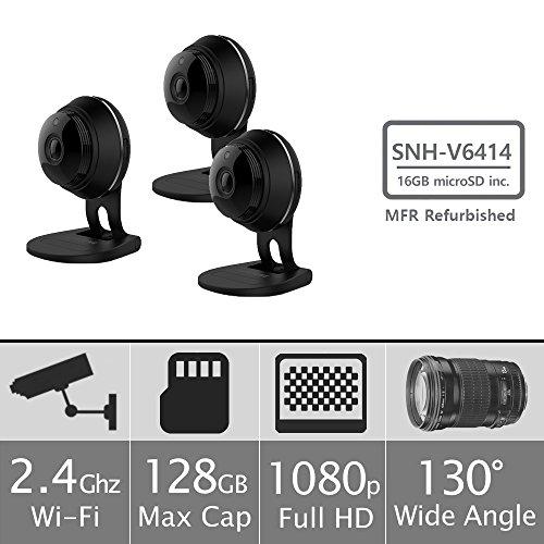 Samsung SNH-V6414BMR SmartCam HD Full HD 1080p Wi-Fi Camera Bundle Triple Pack...