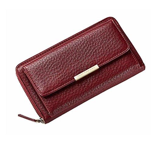 Long Mujer Gray Bags Wallet para Red FUBULE de Bolsos Color Large Crossbody Hombro xqPInYgUwA