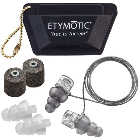 Etymotic High-Def Motorsport Earplugs, Designed to Fit Under Helmets, Universal Fit Package
